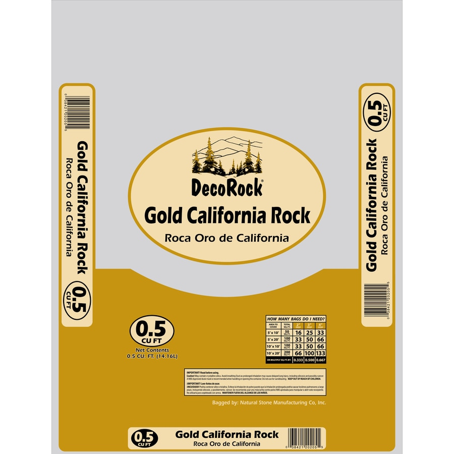 0.5-cu ft Gold California Rock