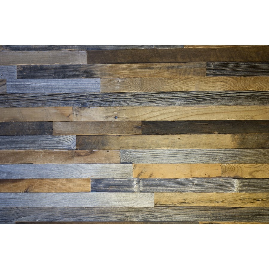 Wood Wall Planks: Waddell 20-sq Ft Origil Reclaimed Wood Wall Plank Kit At