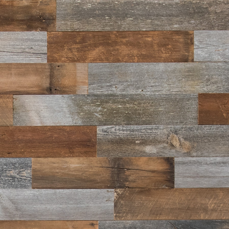 Shop Artis Wall 5 25 In X 4 Ft Reclaimed Wood Wall Plank
