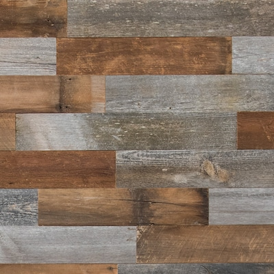 Reclaimed Wood Wall Plank Kits At Lowes