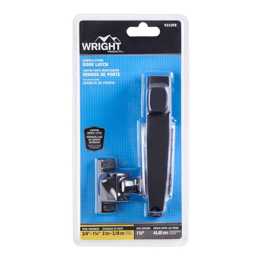 WRIGHT PRODUCTS 3.5 In Aged Bronze Screen Door And Storm Door Push Button  Latch