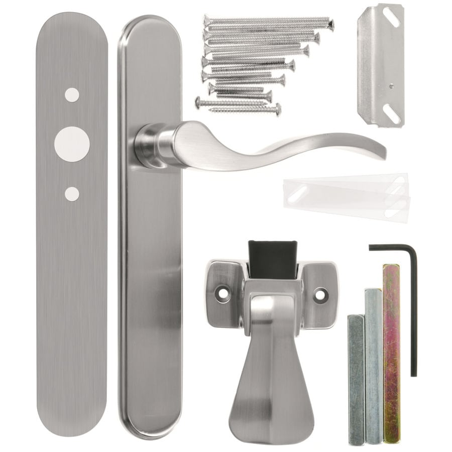 WRIGHT PRODUCTS 3.5 In Keyed Satin Nickel Screen Door And Storm Door  Mortise Latch