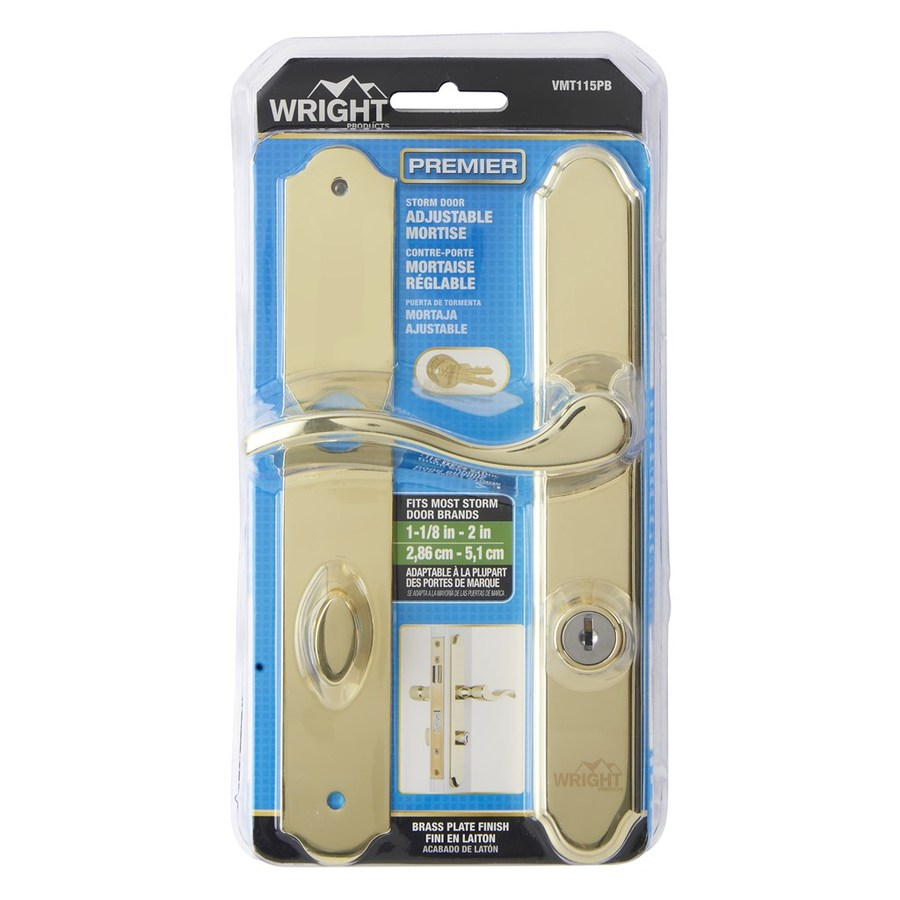 Wright Products 4 In Keyed Polished Brass Screen Door And