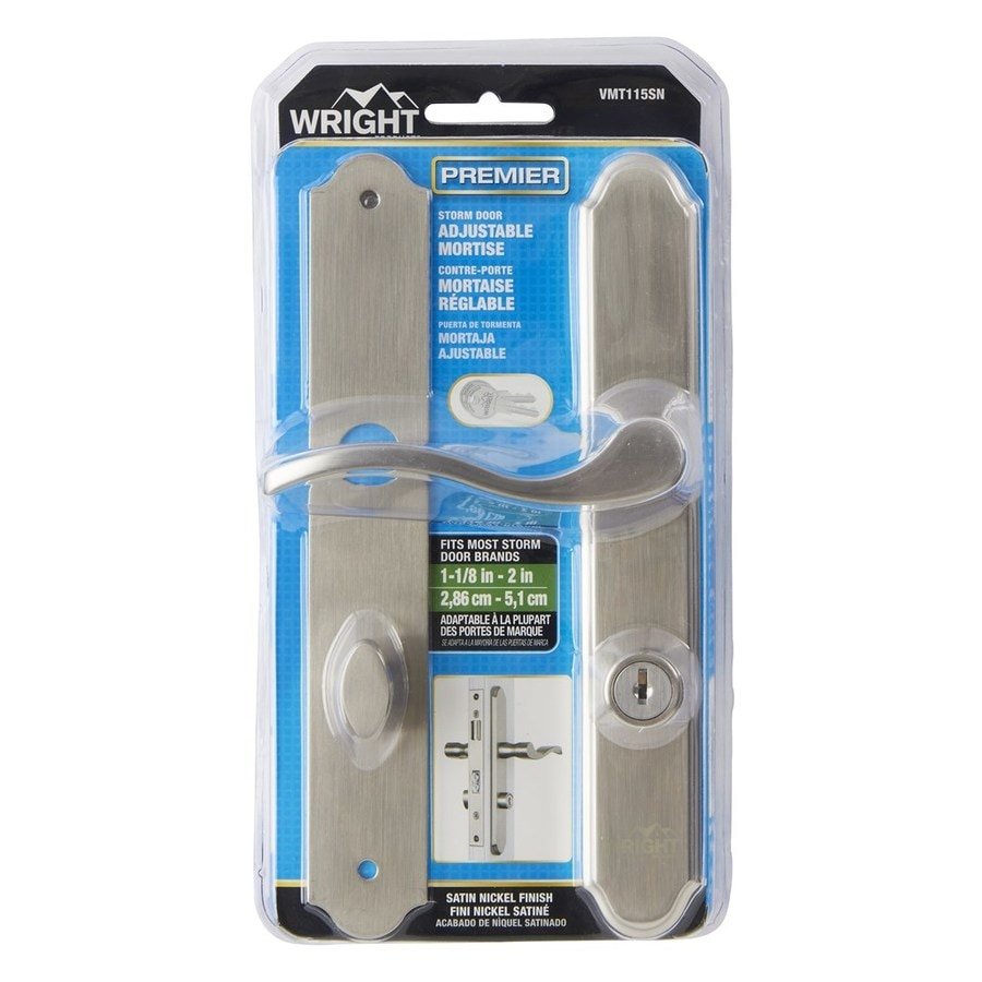 WRIGHT PRODUCTS 4-in Keyed Satin Nickel Screen Door and Storm Door Mortise Latch