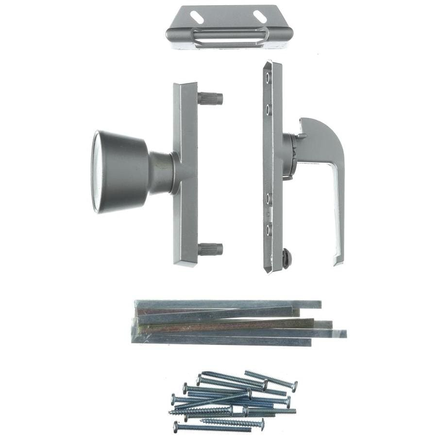 WRIGHT PRODUCTS 4.3 In Pewter Screen Door And Storm Door Universal Knob  Latch