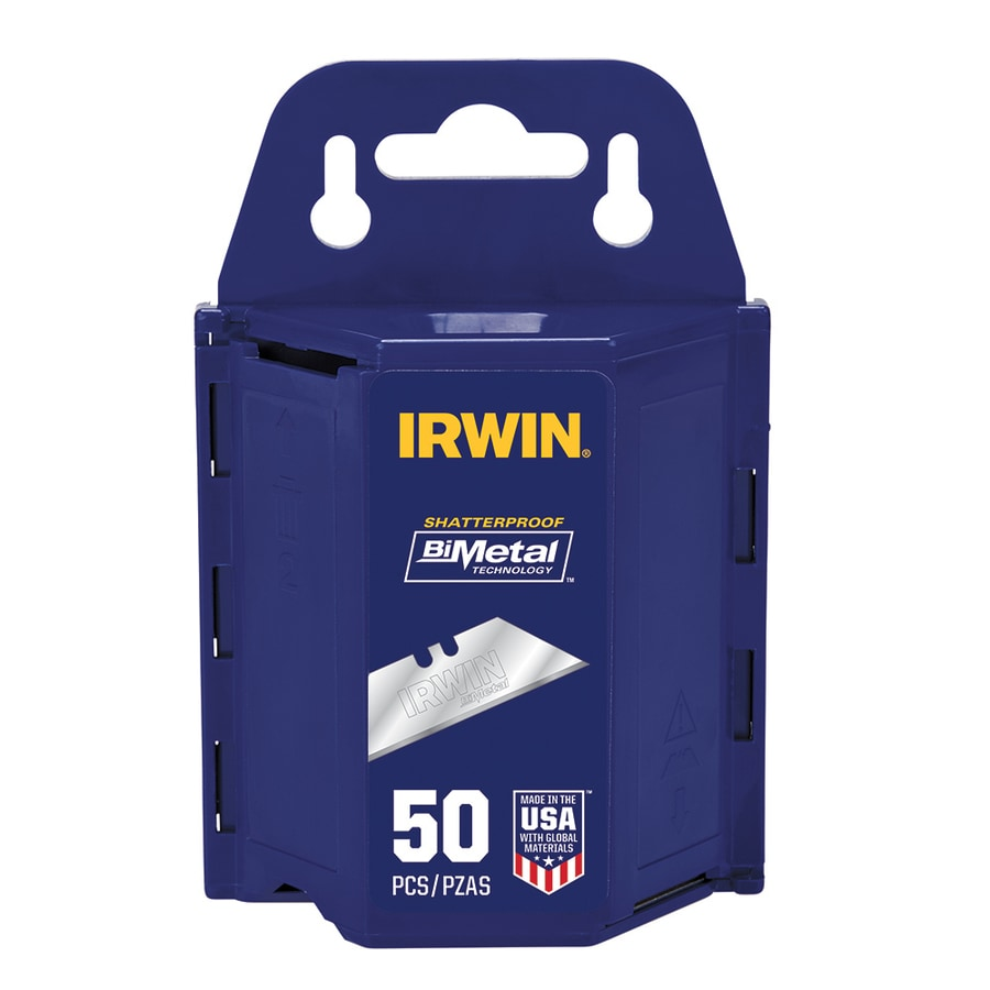 IRWIN 50-Pack Bi-Metal Blue Utility Knife Blades