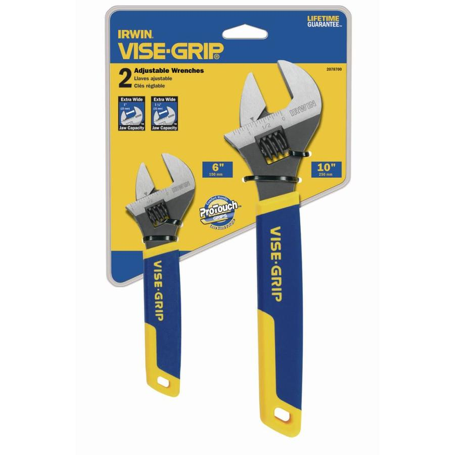 IRWIN VISE-GRIP Steel Adjustable Wrench Set