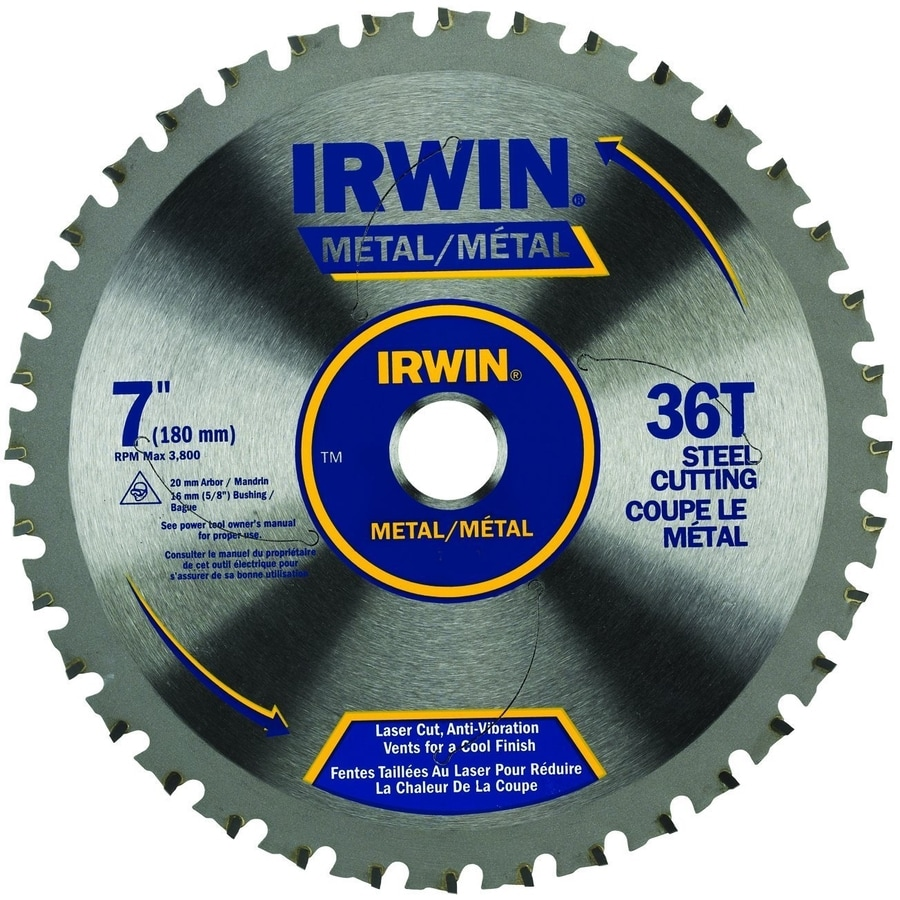 IRWIN 7-in 36-Tooth Standard Tooth Carbide Circular Saw Blade