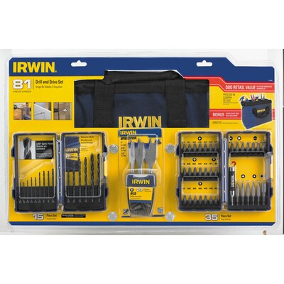 81 Piece Tool Accessory Kit With Contractor Bag