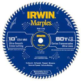Shop irwin mitertable saw blade circular saw blades at lowes irwin marples 10 in 80 tooth standard tooth carbide circular saw blade greentooth Images