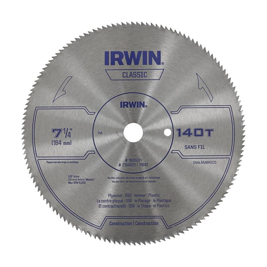 Shop irwin classic pack 7 14 in tooth circular saw blade at lowes irwin classic pack 7 14 in tooth circular saw blade greentooth Images