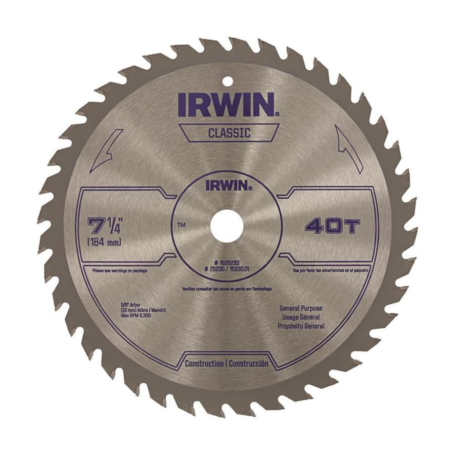 IRWIN Classic-Pack 7-1/4-in-Tooth Circular Saw Blade