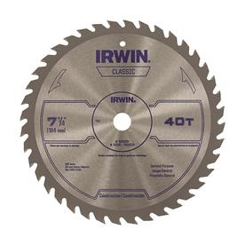 Irwin Clic 7 1 4 In 40 Tooth Carbide Circular Saw Blade