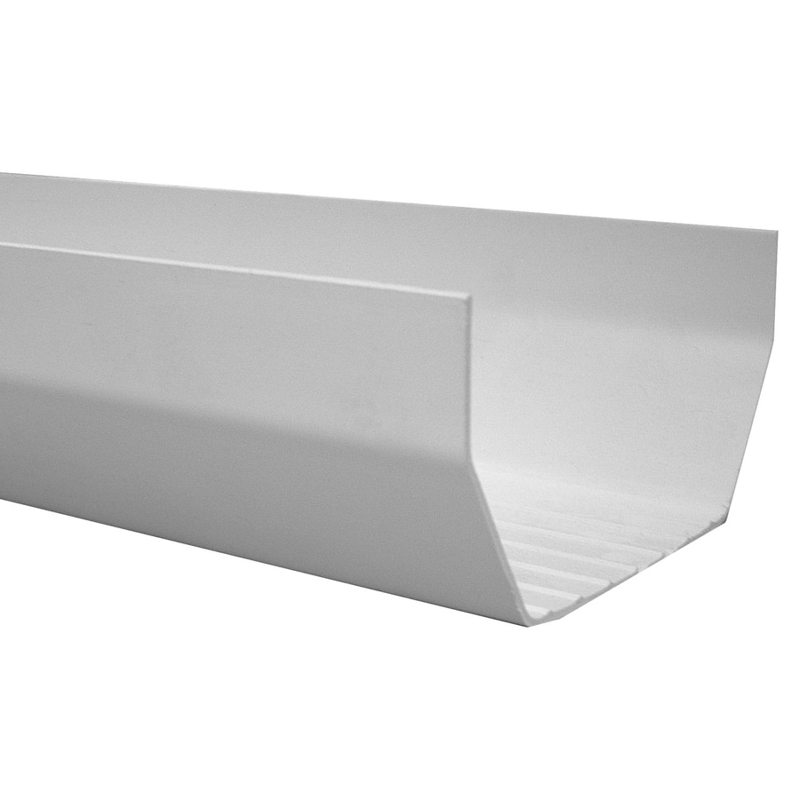 Genova 4 5 In X 120 In Half Round Gutter At Lowes Com
