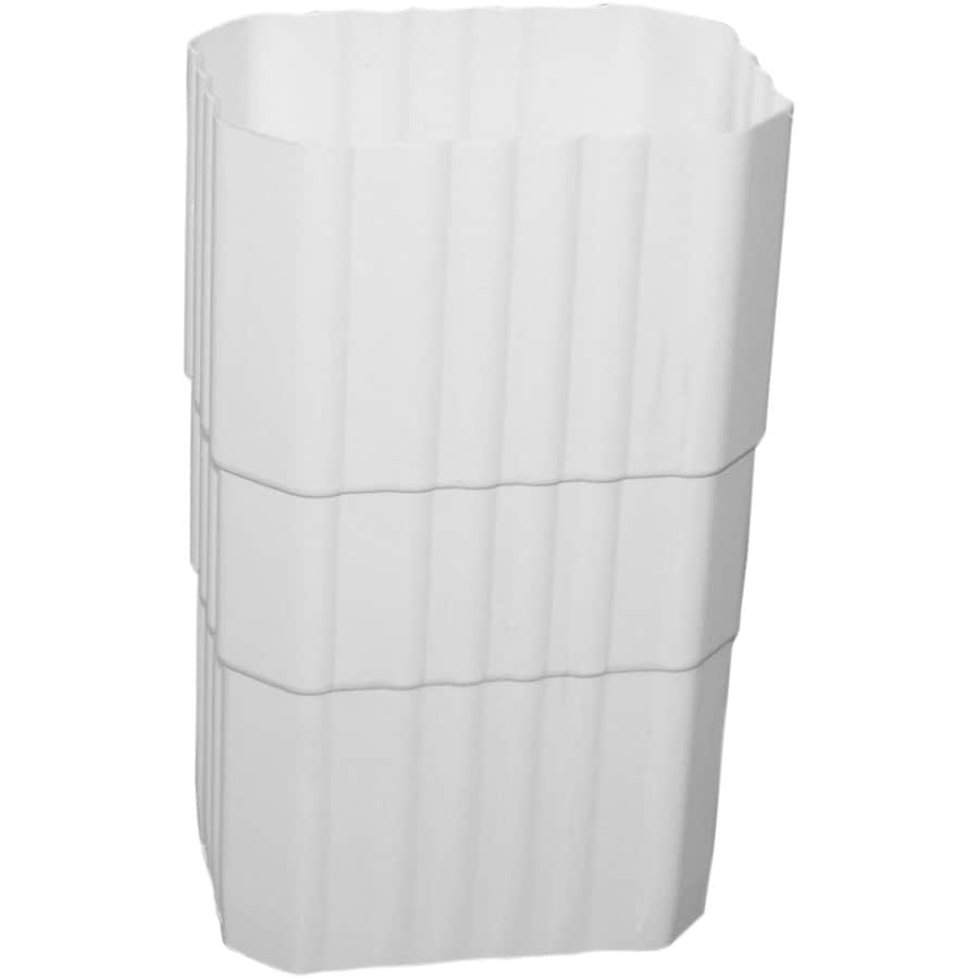 Severe Weather Duraspout 3.288-in White Vinyl Downspout Extension