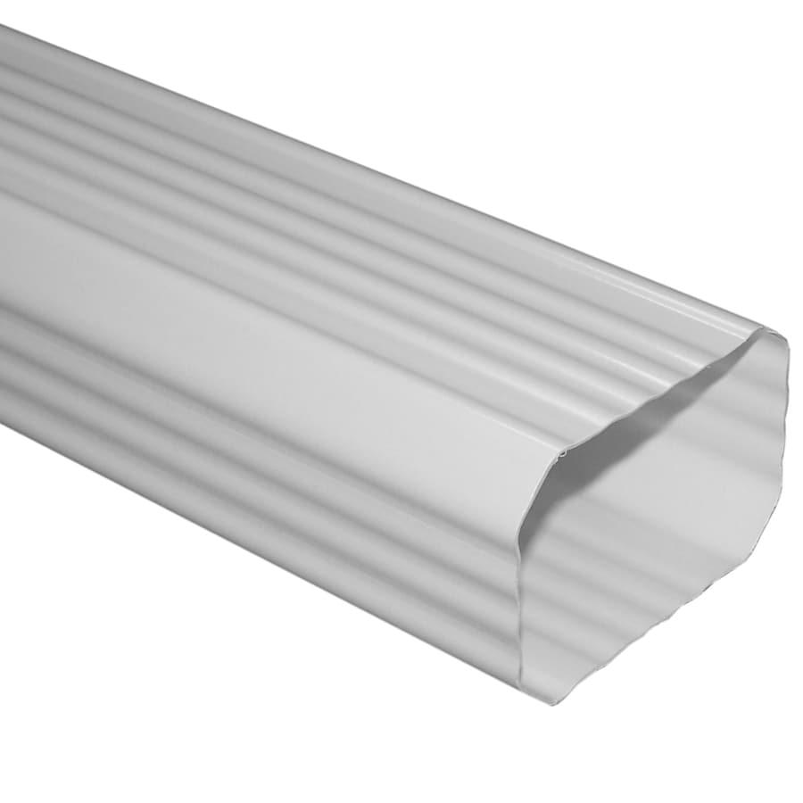 Genova 10-ft White Vinyl Downspout