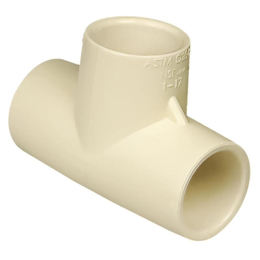 Shop genova 1 2 in dia tee cpvc fittings at for Cpvc hot water