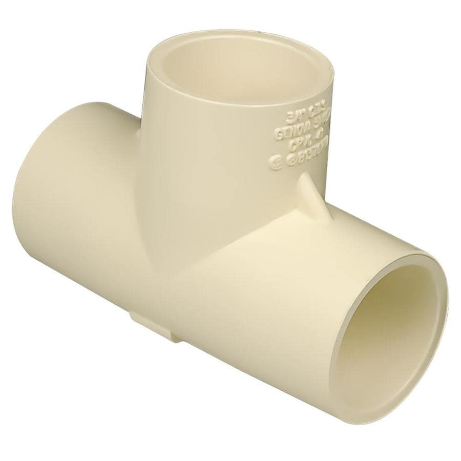 Shop genova in dia tee cpvc fittings at lowes