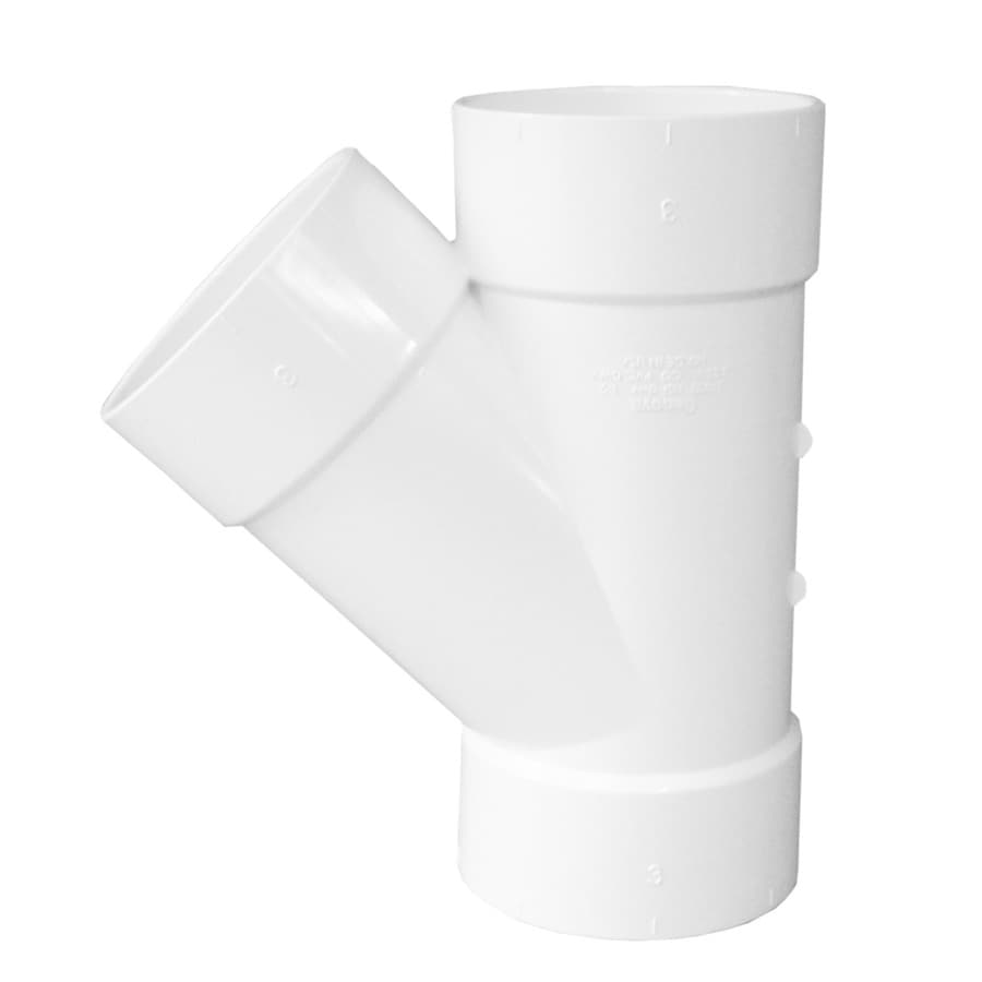 Genova 3-in dia PVC Wye Fitting