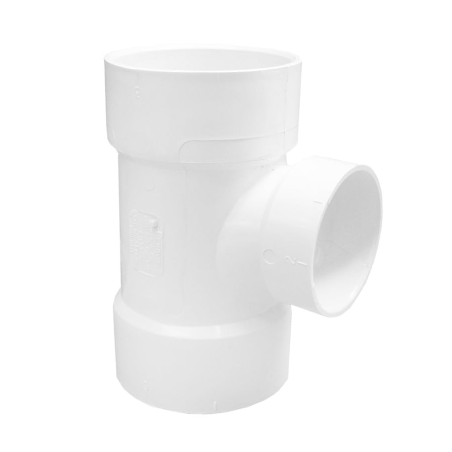 Genova 3-in x 3-in x 2-in dia PVC Sanitary Tee Fitting