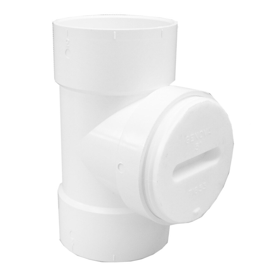 Genova 3-in Dia PVC Test Tee with Plug Fitting