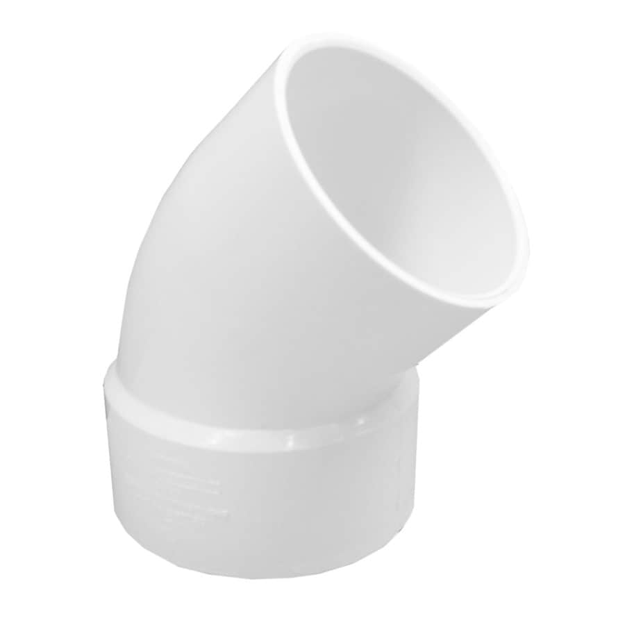 Genova 3-in dia 45-Degree PVC Street Elbow Fitting