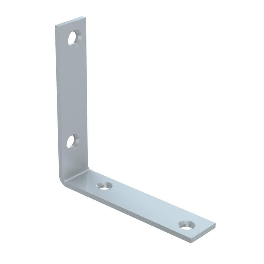 Stanley-National Hardware 0.875-in x 4-in x 3.98-in Zinc-plated Flat Brace