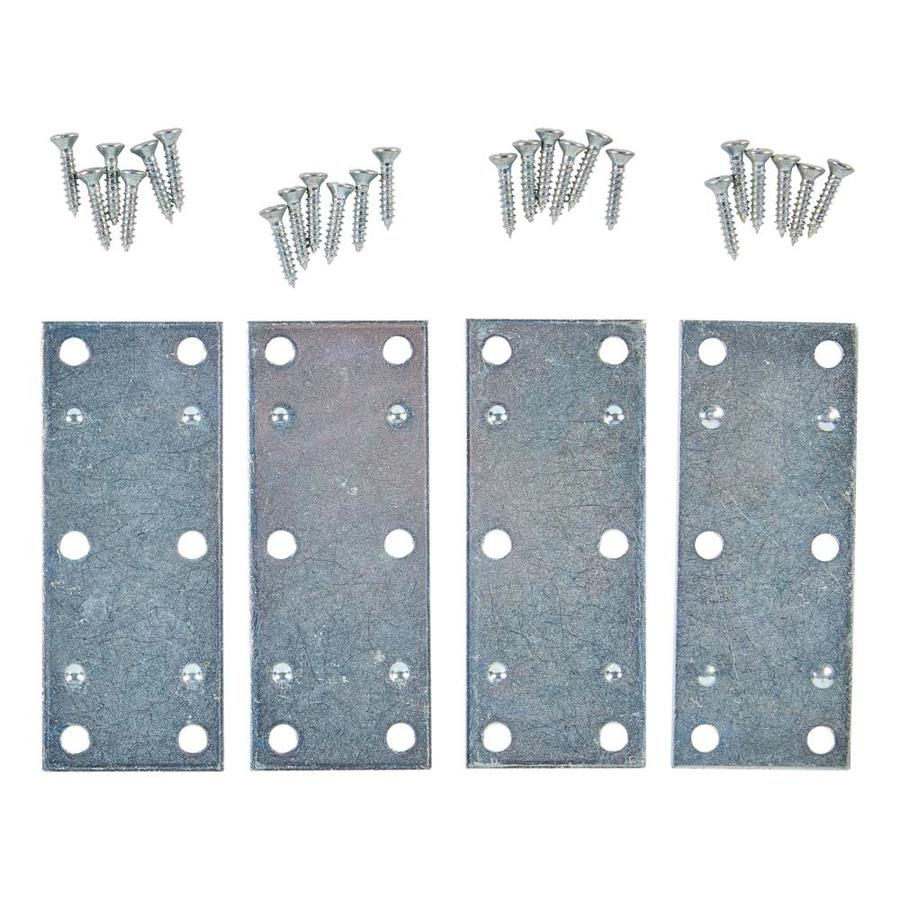 National Hardware 4-Pack 1.41-in x 3.5-in x 0.07-in Zinc-plated Mending Brace