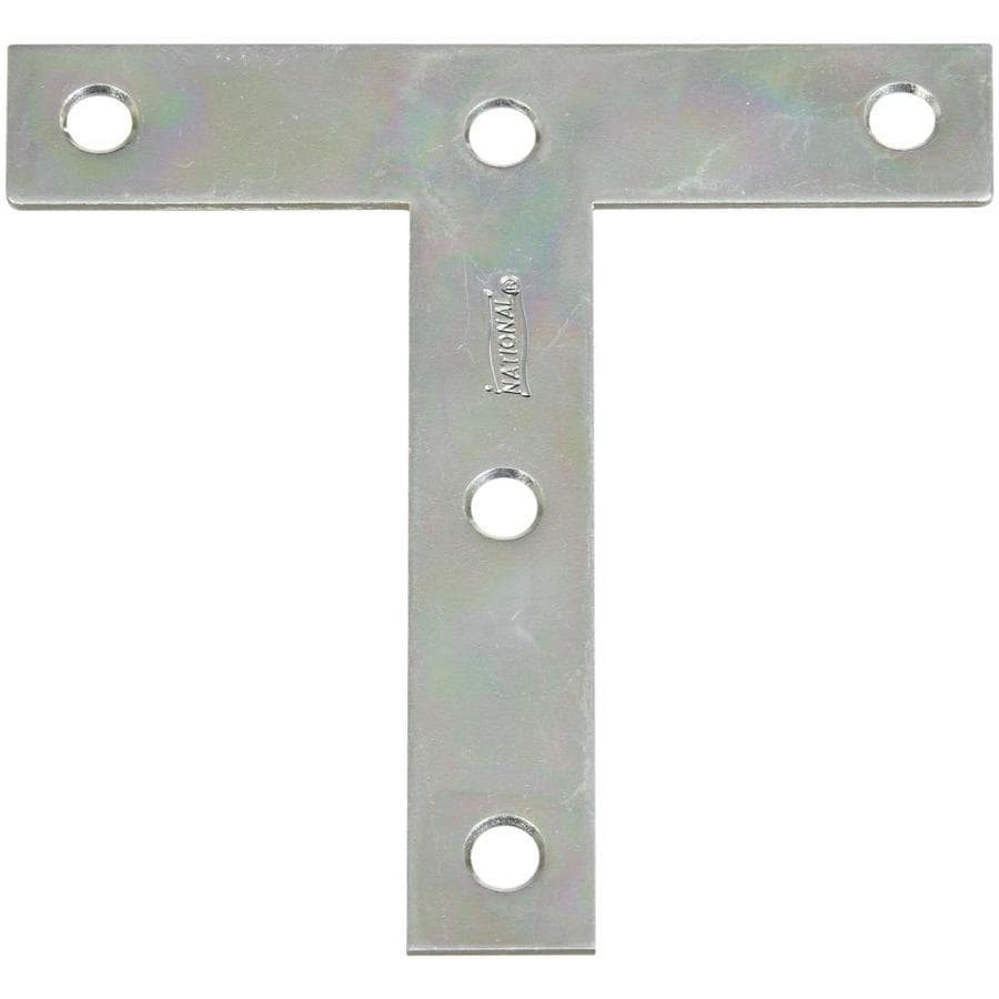 National Hardware 2-Pack 4-in x 4-in x 0.07-in Zinc Alloy T Plate Bracket