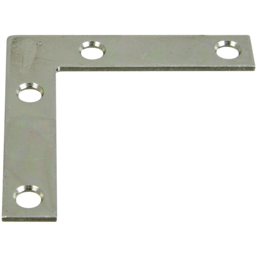 National Hardware 4-Pack 2.5-in x 2.5-in x 0.07-in Zinc-plated Flat Brace