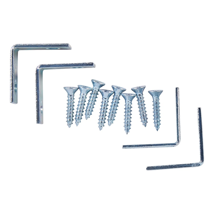 National Hardware 4-Pack 1-in Zinc Corner Braces