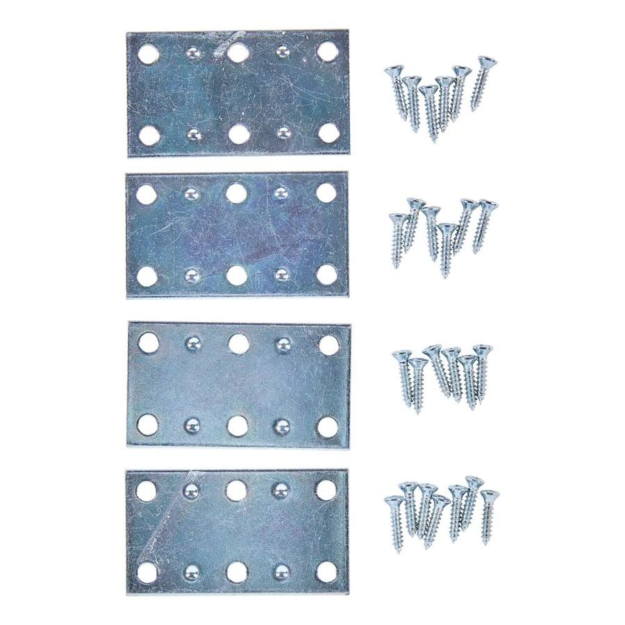 National 4-Pack 1.5-in x 1.5-in x 0.07-in Zinc-Plated Mending Brace