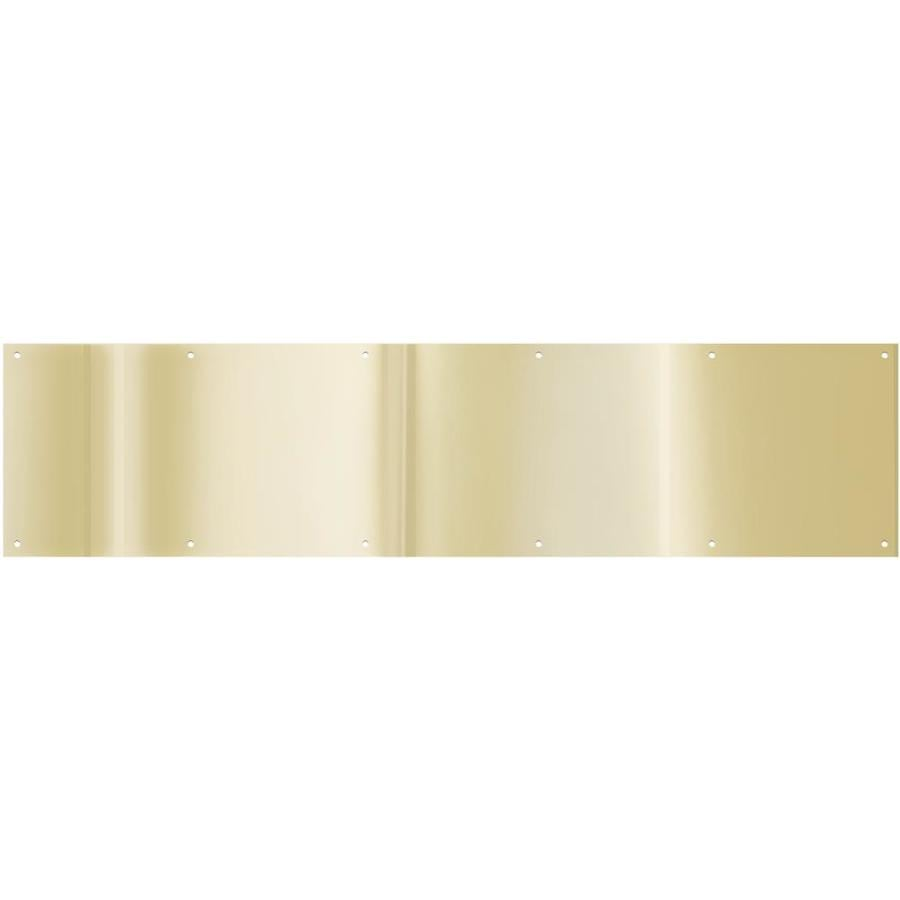 Shop National 34 In X 8 In Brass Plated Entry Door Kick