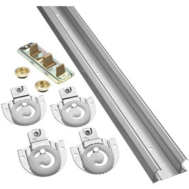 national hardware 1piece 72in bipass door sliding closet door track