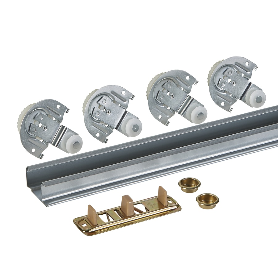 Shop National Hardware 1 Piece 72 In Bi Pass Door Sliding