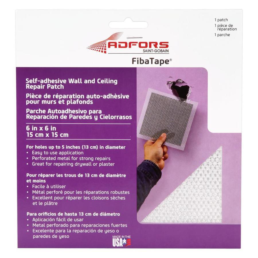 FibaTape Drywall Repair Patch 6-in x 6-in Drywall Repair Patch