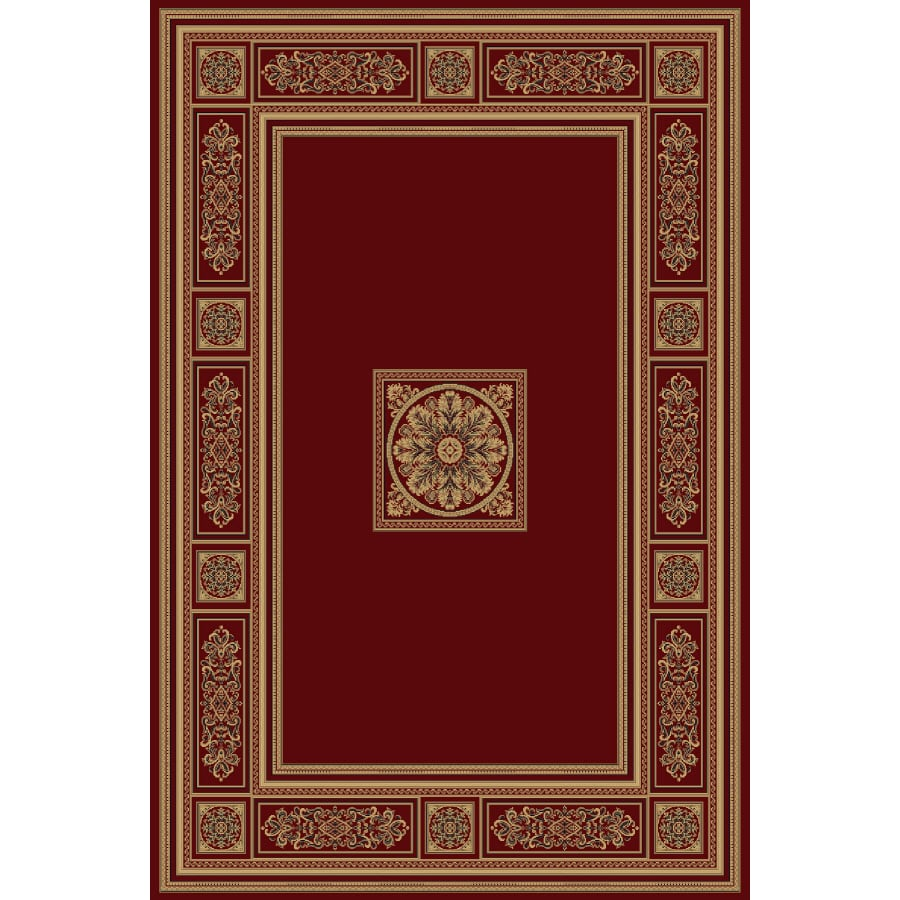 Natco Chateaux 94-in x 118-in Rectangular Red/Pink Transitional Area Rug