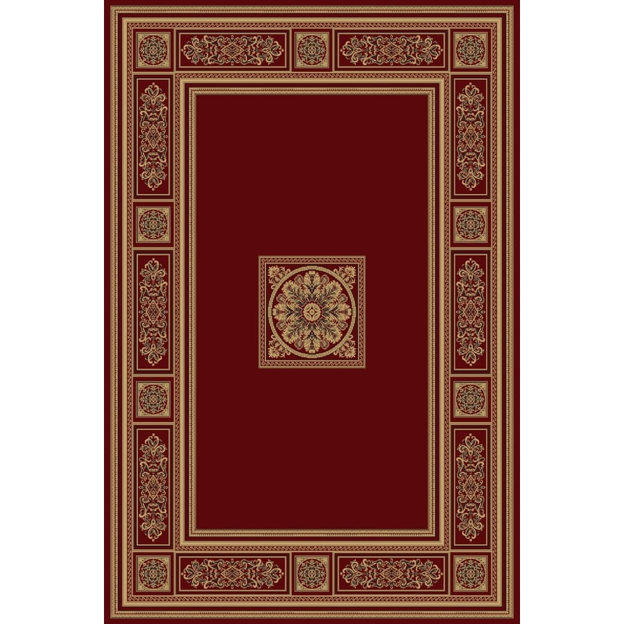 Natco Chateaux 24-in x 40-in Rectangular Red Transitional Accent Rug