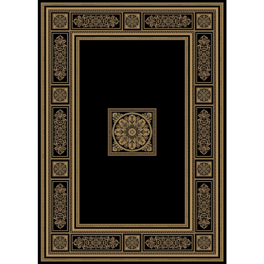 Natco Chateaux 7-ft 10-in x 9-ft 10-in Rectangular Black Transitional Area Rug