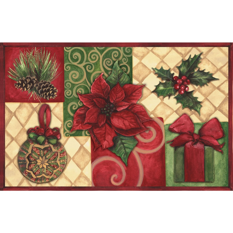 Natco Echo Rectangular Indoor Tufted Holiday Throw Rug (Common: 1-1 and 2 x 2-1 and 2; Actual: 19.7-in W x 29.9-in L)