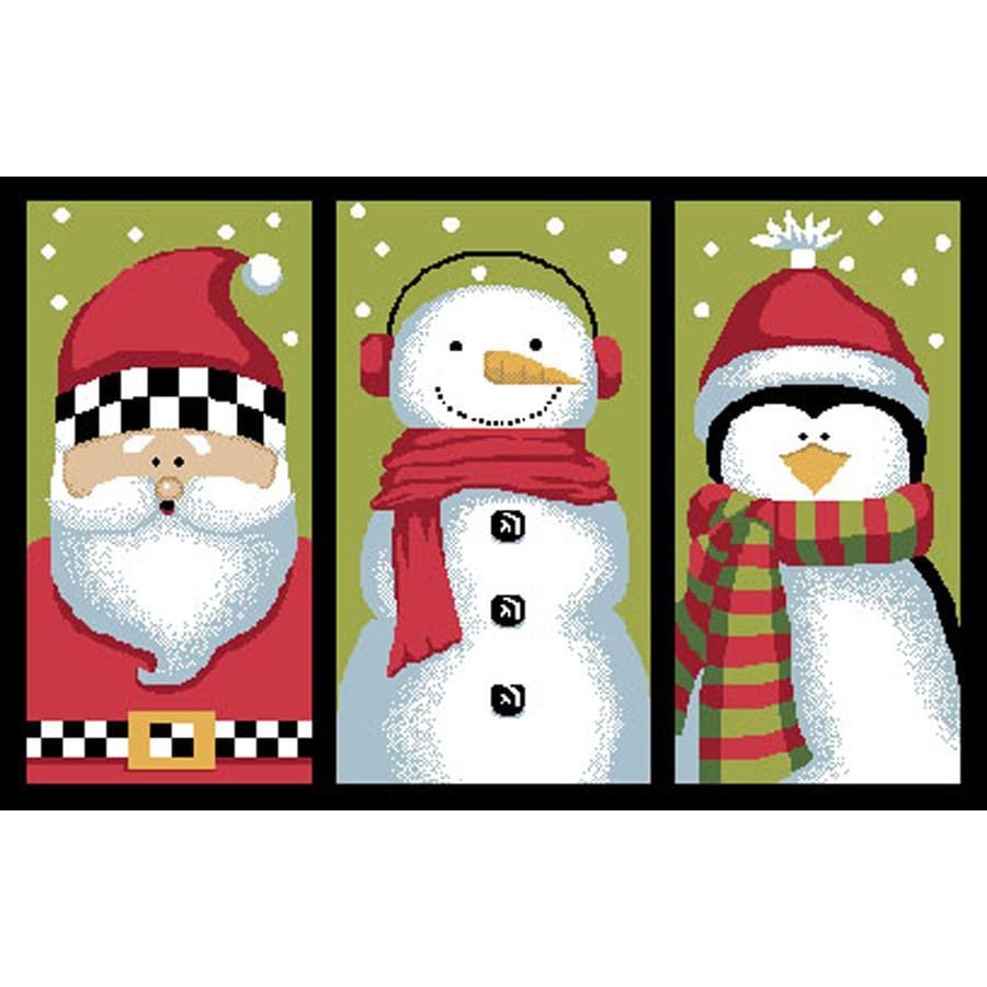 Natco Christmas Multicolor Rectangular Door Mat (Common: 20-in x 30-in; Actual: 19.7-in x 29.9-in)