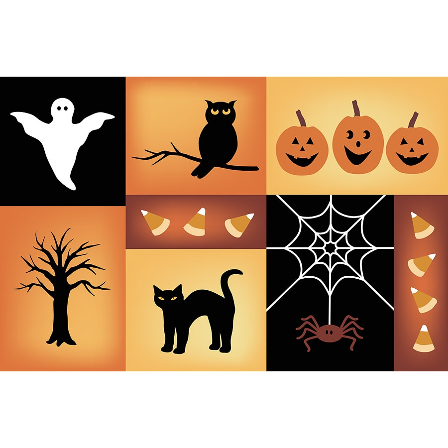 Natco Halloween Multicolor Rectangular Door Mat (Common: 20-in x 30-in; Actual: 19.9-in x 29.9-in)
