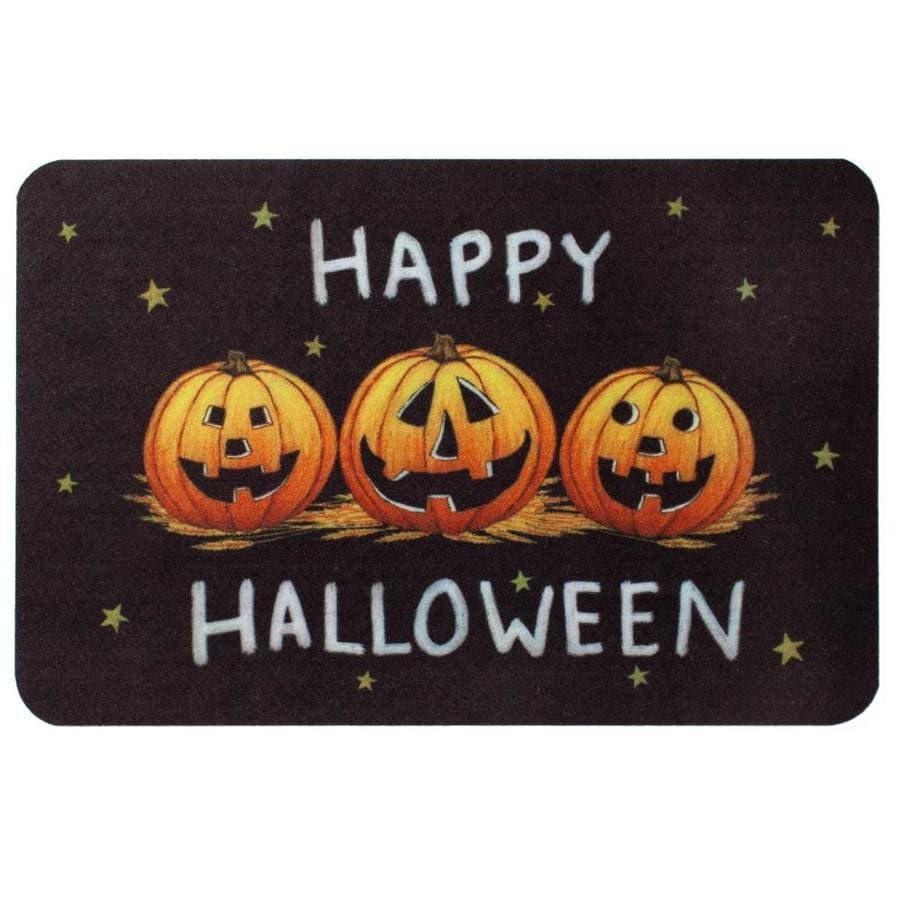 shop natco echo halloween mat black rectangular door mat (common: 1