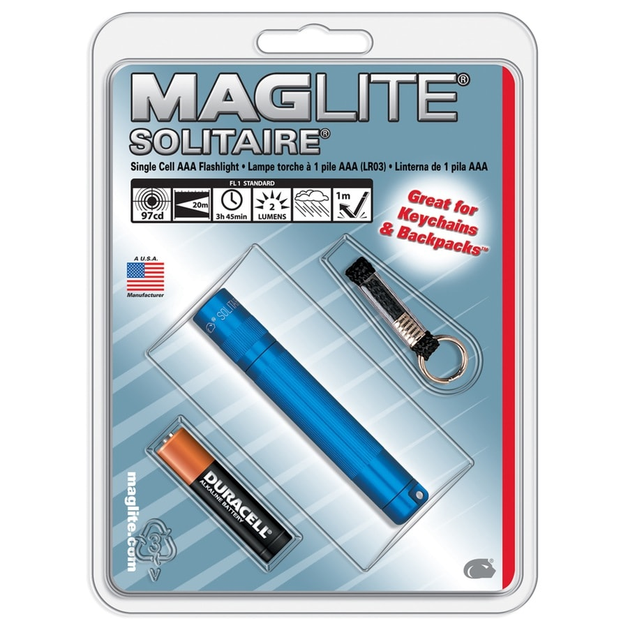 Maglite 2 Lumens Incandescent Handheld Battery Flashlight Battery Included