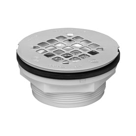 Oatey 101 Series 3.5 In Square Holes Round PVC Shower Drain