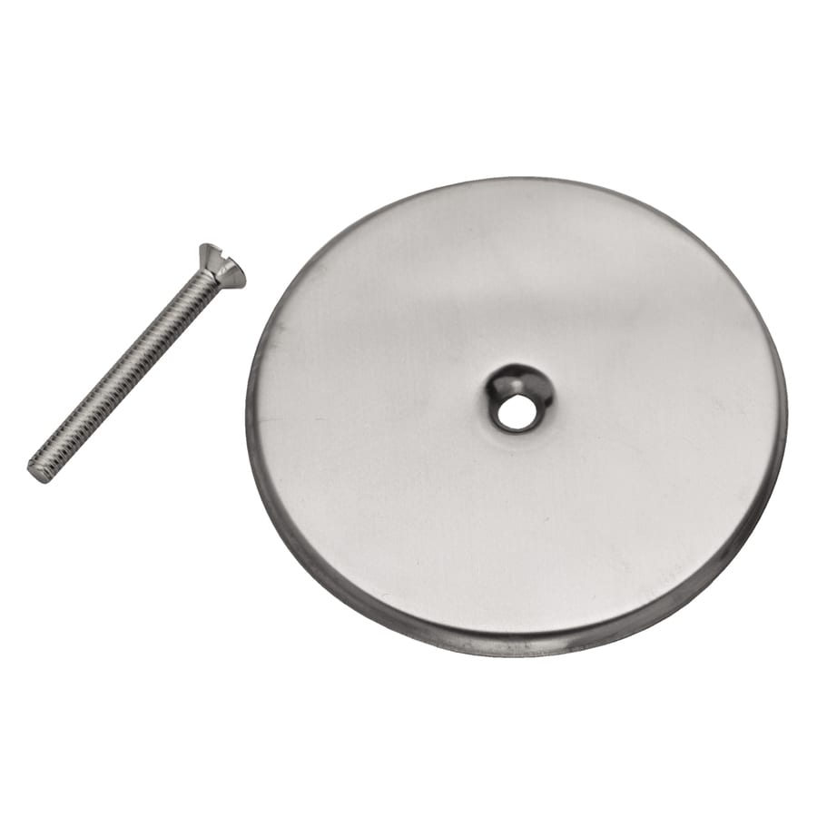Floor Cleanout Cover Plate: Oatey 5-in Solid Round Stainless Steel Cover Plate At