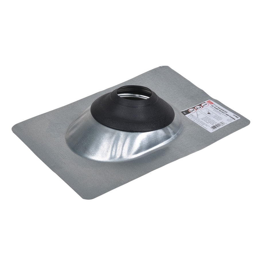 Oatey No-Calk 4-in x 15-in Galvanized Steel Vent and Pipe Flashing