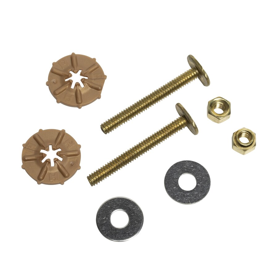 Oatey 2-1/4-in L Polished Brass Floor Bolts