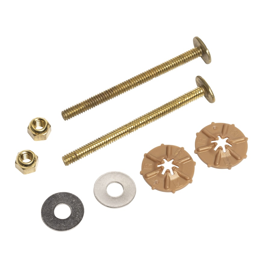 Oatey 3-1/2-in L Polished Brass Floor Bolts