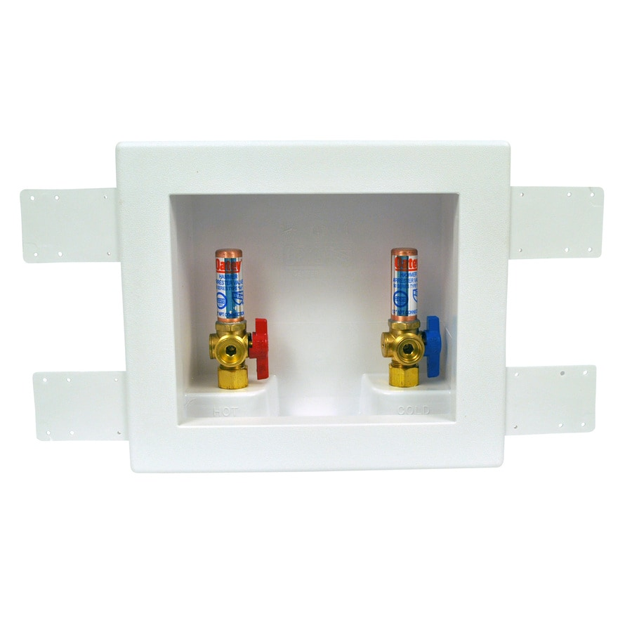 Oatey Quarter Turn Ball Valve Copper Sweat Washing Machine Outlet Box